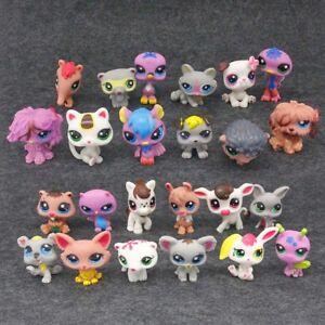Hot Cutest Rare Littlest Pet Shop LPS 24 Pcs Lot Figure Collection Cat Dog Toy
