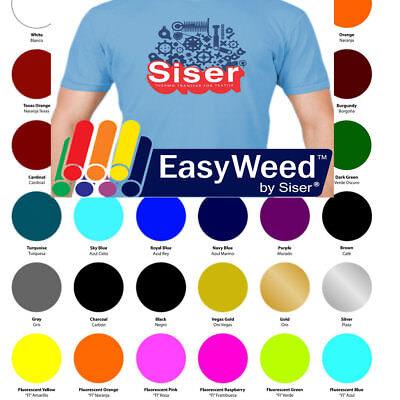 "90 Sheets SISER EasyWeed Heat Transfer Vinyl HTV Kit - 15"" x 12"" Assorted Colors"