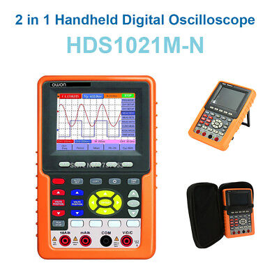 2 In 1 3.7 Tft Handheld Hds1021m-n Dso Digital Oscilloscope Multimeter 20mhz