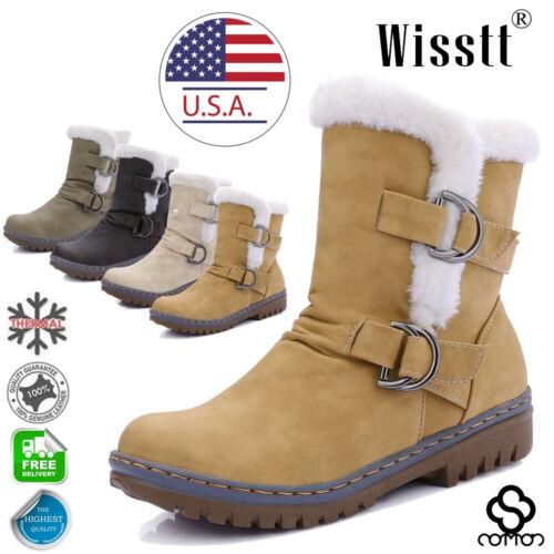 Women's Winter Ankle Boots Snow Fur Warm Insulated Waterproo
