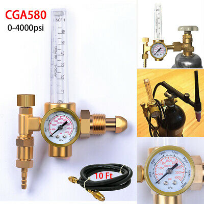 Mig Tig Flow Meter Regulator Welding Gas Gauge W Hose Argonco2 Heliumnitrogen