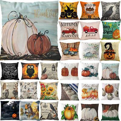 Halloween Pillows Cover Fall Decor Pillow Case Sofa Waist Throw Cushion Cover ()