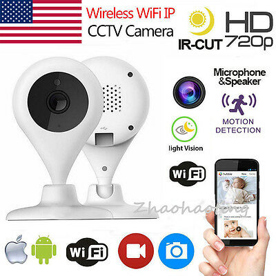 Wireless WiFi 720P IP Camera Network Security Video Smart Audio Night Vision Cam