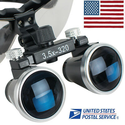 Dental 3.5x Medical Binocular Loupes 320mm Loupe Magnifier Magnifying Glasses Us