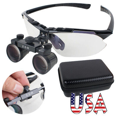 Upgraded Dental Loupes 2.5x R 360580mm Surgical Medical Binocular Adjust Usa