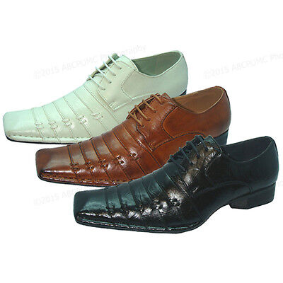Italian Lace Shoes - Men's Dress Shoes Italian Style Casual Pleated Lace up Fashion Tapered Toe Sizes