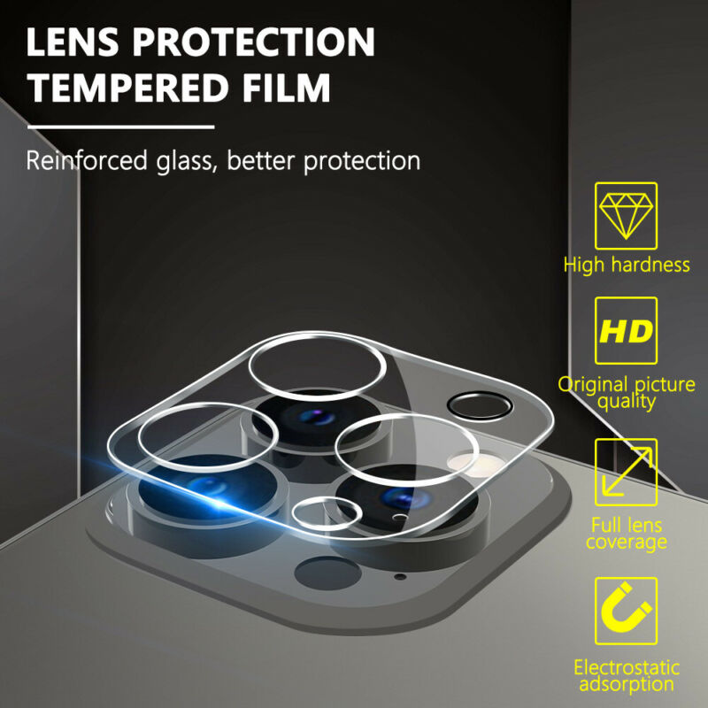 For Apple iPhone 13 12/Pro/Max/Mini/11 Back Camera Lens Tempered Glass Protector
