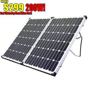 200w Folding solar Panel caravan battery charger 12v generator Wangara Wanneroo Area Preview