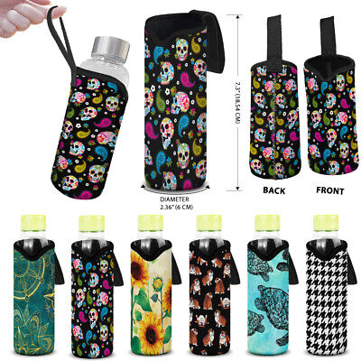 Water Bottle Cover Sleeve Neoprene Carrier Holder Bag Pouch Insulated With Strap