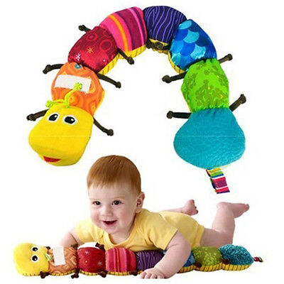 """New Lamaze Learning Curve Caterpillar Inch Worm 24"""" Plush Musical Baby Toy US"""