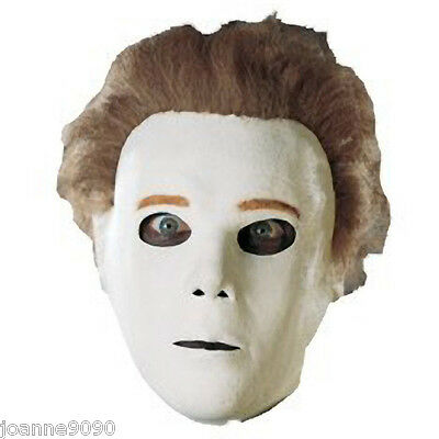 NEW MICHAEL MYERS HALLOWEEN 2008 ORIGINAL ADULT FANCY DRESS COSTUME MASK AND WIG
