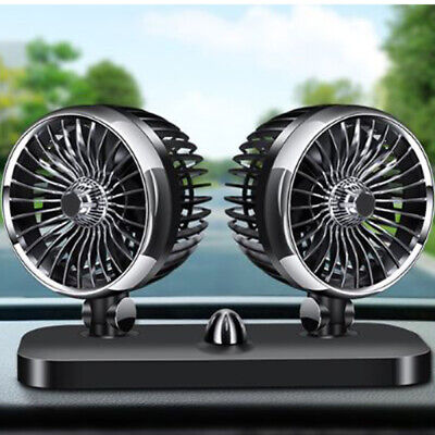 Variable Speed Dual Head Car Van Cooler Electric Cooling Fan Air Conditioner 12V