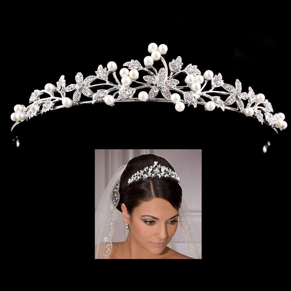 Braut Haarreif Haarband Haarschmuck Haarkamm Stirnband Hochzeit Strass Perlen