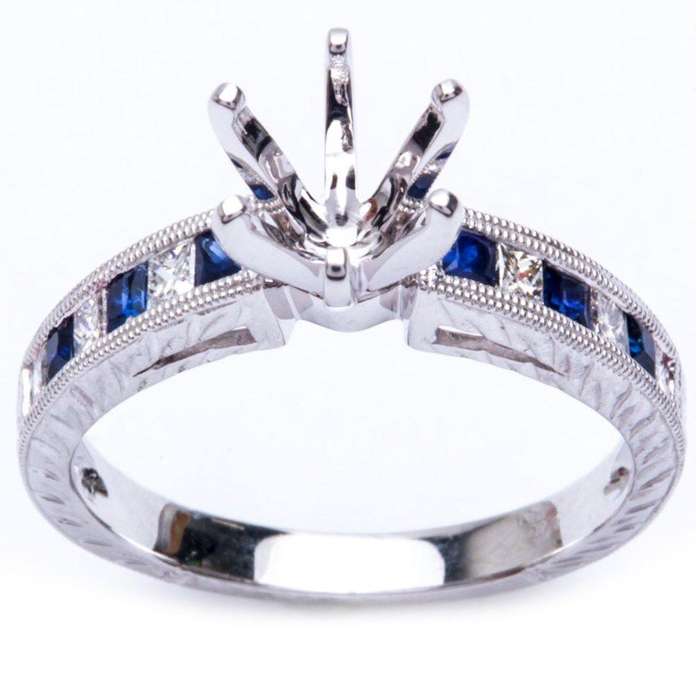 52ct blue sapphire gemstone semi mount