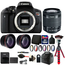 Canon EOS Rebel T6i/750D 24.2MP DSLR Camera + 18-55mm with Deluxe Accessory Kit