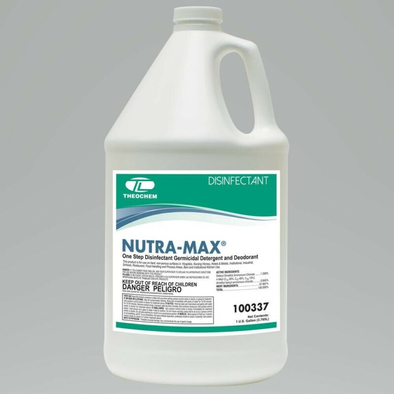 Nutra-Max EPA Registered Disinfectant Cleaner Fungicide Virucide 1 Gallon Bottle