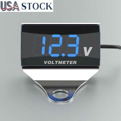 Motorcycle Dc 10-150v Digital Voltmeter Led Display Voltage Tester Moniter Gauge
