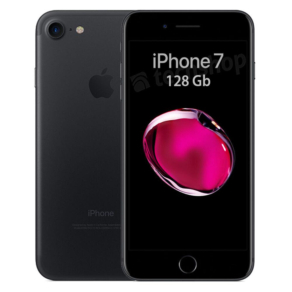 Apple • iPhone 7 • 128Gb Black • GARANZIA 2 ANNI • Nero Opaco 4.7