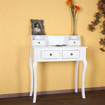 Sekretär Schreibtisch (Sekretär Schreibtisch Schminktisch Shabby Chic Landhausstil Weiß Landhaus Antik)