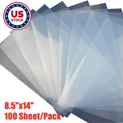 Usa 100pc 8.5x14 Waterproof Inkjet Screen Printing Positive Transparency Film