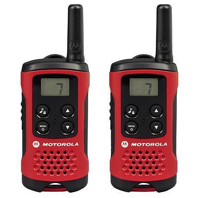 Motorola TLKR T40 PMR Funkgerät mit LC-Display 2 Stk. rot bis 8 km NEU OVP