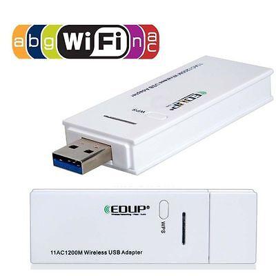 ADAPTADOR WIFI EDUP Doble Banda 1200 Mbps 802.11 a/b/n/g/ac Wireless USB 3.0