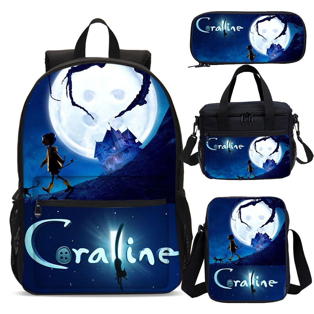 Coraline Girls Backpack Combo Lunchbox School Pen Bag Wholesale Rucksack Satchel Ebay