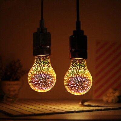 E27 A60 LED Glühbirne 3D Feuerwerk Dekorative Edison Bunte Party Lampe GE ()