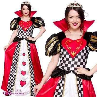 Fairytale Königin der Herzen erwachsenes Abendkleid-Alice im Wunderland Kostüm ()