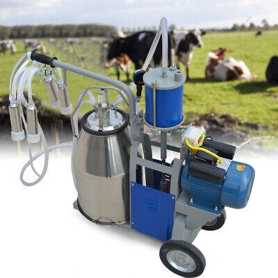 25l Electric Milking Machine For Farm Cow Cattle 2plug Milker Vacuum Piston Pump