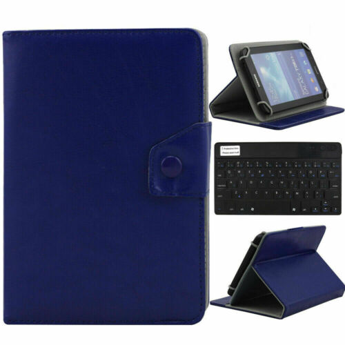 For 97 101 105 Tablet Blue Universal Leather Case Cover Wireless Keyboard