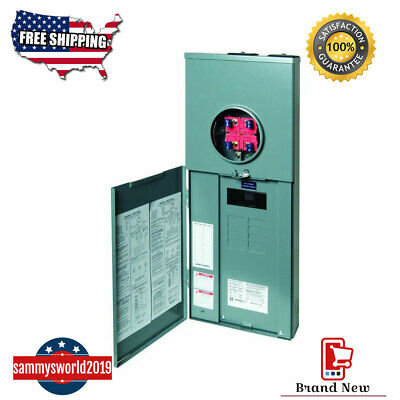 Square D 200 Amp Load Center Main Breaker Panel Meter 16-circuit 8-space