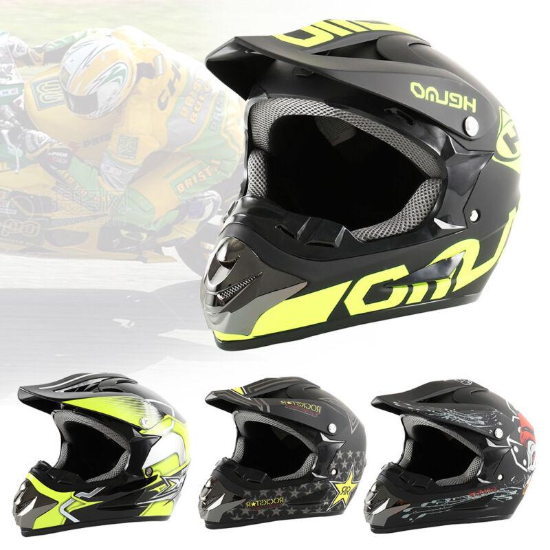 Crosshelm Motocross Enduro Quad ATV Downhill Motorradhelm Mask+Brille+Handschuh