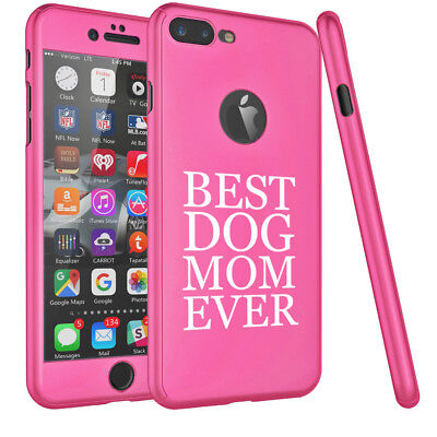 For iPhone 360° Thin Slim Case Cover +Tempered Glass Screen Best Dog Mom