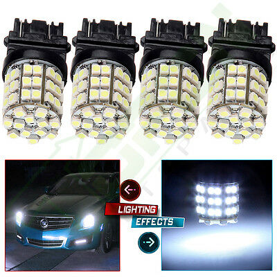 (4 Ultra White 3157 54SMD LED Bulbs Backup/Reverse/Brake Turn Signal Light Lamps)