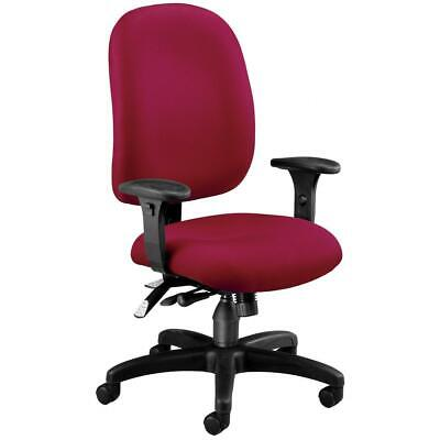 OFM Model 125 Ergonomic Task Chair with Arms, Fabric, Mid Back, Wine Ofm Ergonomic Task Chair