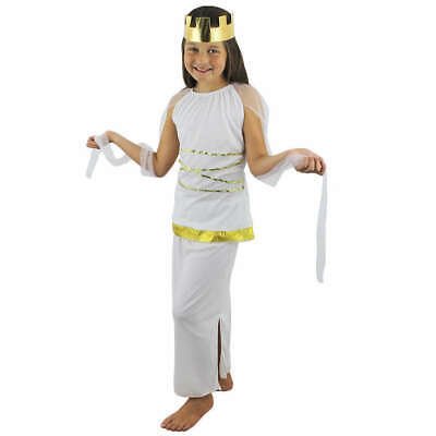 Greece Goddess Costume (CHILDS HISTORICAL GREEK GODDESS ATHENA ANCIENT GREECE GIRLS FANCY DRESS)