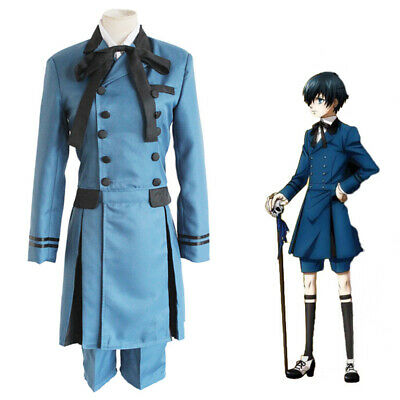 NEW Black Butler Cospaly Full Cosplay Costume Set Outfit Unsex Ciel Phantomhive