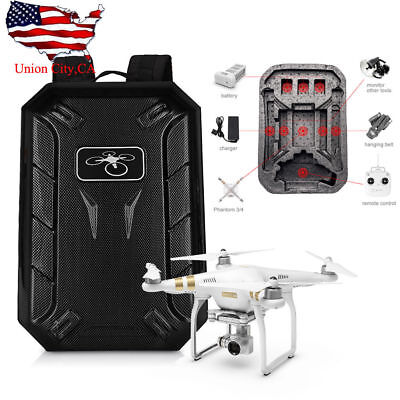 Backpack Carrying Case (Portable Backpack Hard Shell Carrying Case for DJI Phantom 3/4 Standard)