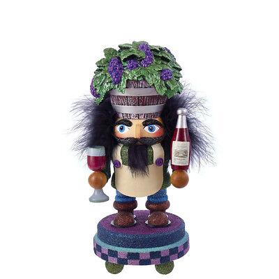 "[Kurt Adler Hollywood Nutcracker - Wine Guy Barrel Hat Christmas Nutcracker 11""</Title]"