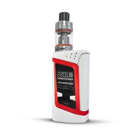 Brand New! Smok Alien 220W Kit - White/Red - With 2 x 18650 Batteries