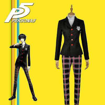 Persona 5 Ren Amamiya Akira Kurusu Uniform Coat Shirt Pants Men Cosplay Costume - Pants Costume