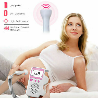 Fetal Doppler Meter Baby Heartbeat Rate Monitor Fhr Lcd Probe Pregnancy Fetus Us