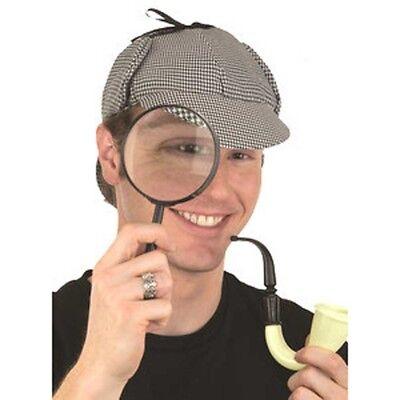 Sherlock Homes Detective Kit Hat Pipe Glass Adult Cosplay Halloween Costume - Sherlock Homes Hat