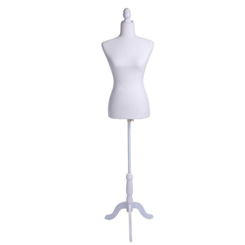 Female Mannequin Torso Dress Form Display With Tripod Stand Black/White/Red NEW