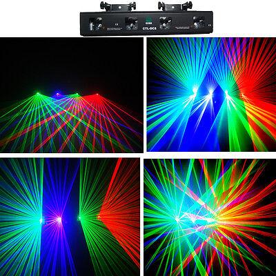 Disco Items (NEW ITEM 4 Lens 250mW 3 Color Disco Laser Light DMX  DJ Party Laser)