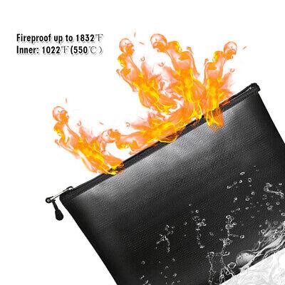 Fireproof Water Resistant Money Bag Envelope Safe Document Bag File Pouch Tablet