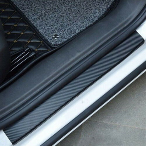 Car Parts - Parts Accessories 4x Carbon Fiber Stickers Car Door Sill Plate Trim Universal