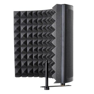 2 Fold Design Microphone Isolation Shield Video Studio Recording Absorber Foam