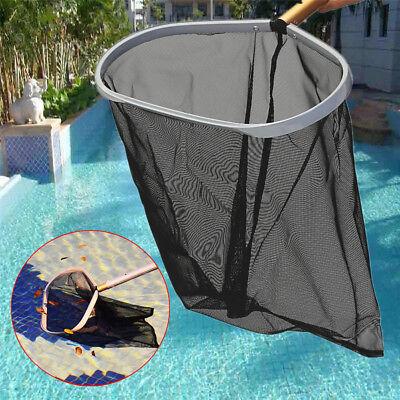 Heavy Duty PRO Swimming Pool Skimmer Leaf Rake w/Frame Black Mesh Net Black Net